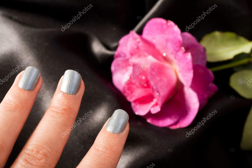 Silver Manicure for woman cosmetic  Stock Photo #2526191