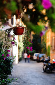 Vista panorâmica de uma rua em italiana — Fotografia Stock
