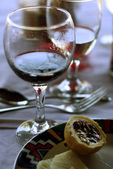 Wine and fruits — Stock fotografie
