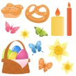 Stock Vector: Vector easter icons