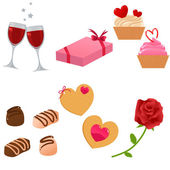 Vector Valentine icon set — Stock Vector