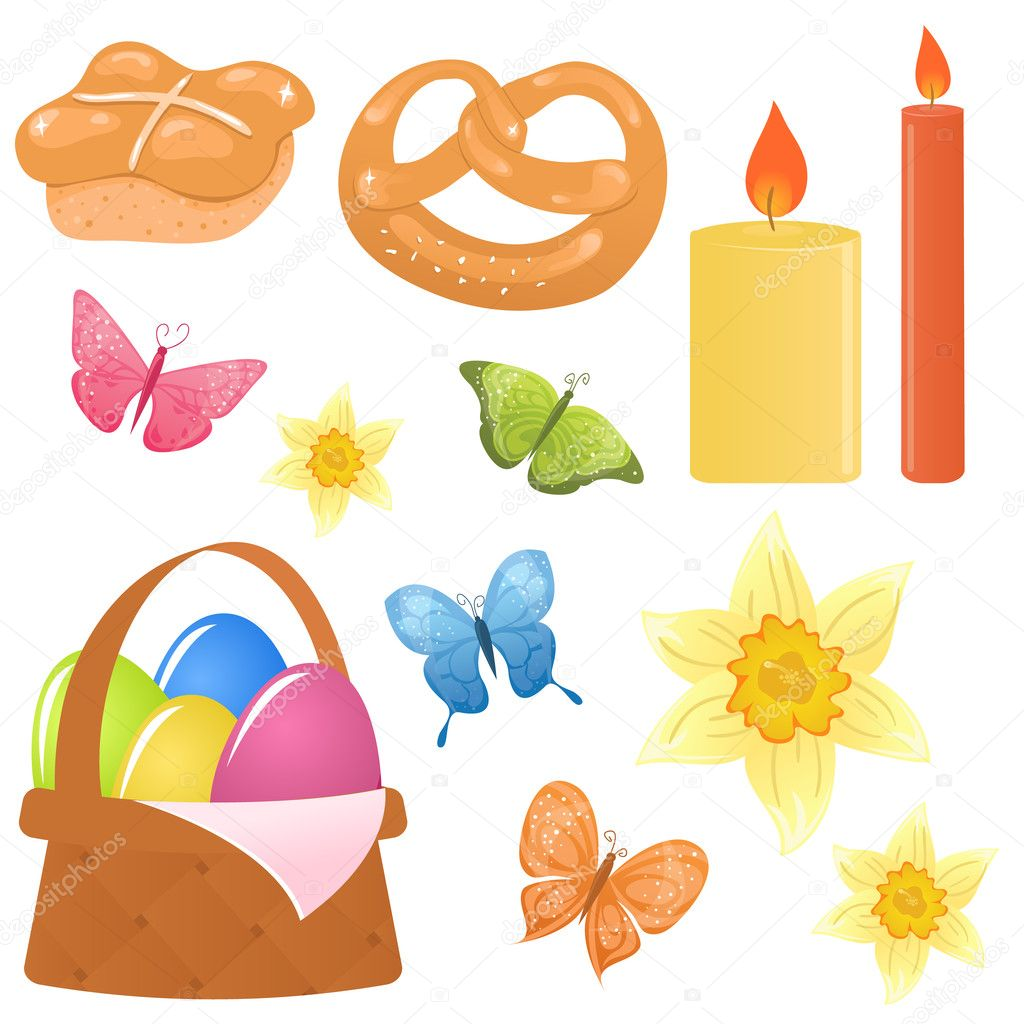 Vector easter icons — Stock Vector #2407607