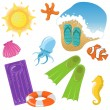 Vector vacation icon set — Stock Vector