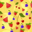 Royalty-Free Stock Vector Image: Seamless berry background