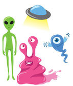 Cute vector aliens — Stock Vector
