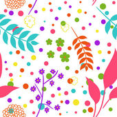 Seamless colorful floral background — Stock Vector