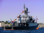 Sea parade on Neva. — Stockfoto