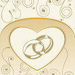 Card with wedding rings - Imagens vectoriais em stock