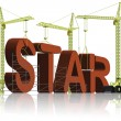 Stock Photo: Making a star