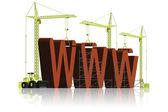 Construção de sites www em construção — Foto Stock