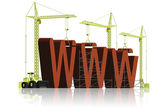 Website building www under construction — Foto Stock