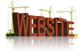 Website building www under construction — Stock Photo