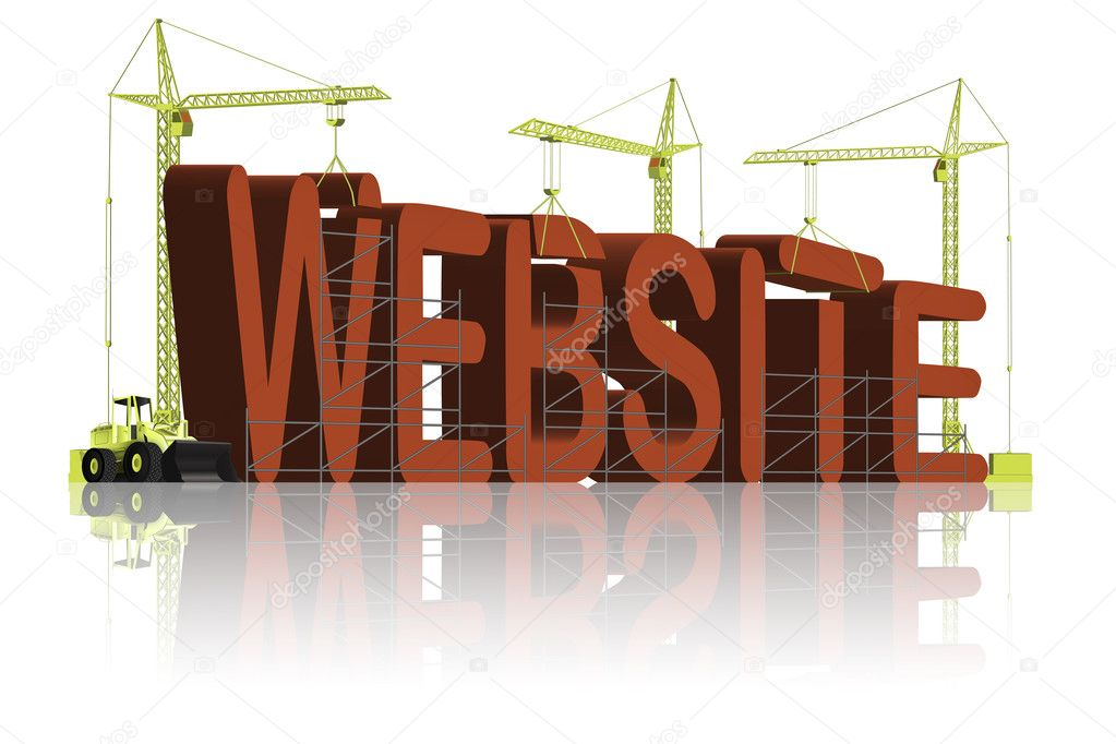 Website building internet site  under construction  — Stock fotografie #2437971