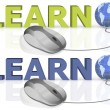 Stock Photo: Learn on line