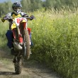 Motocross rider — Stock Photo