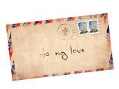 Vintage letter — Stock Photo