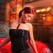 Pretty woman with the car. — Stock Photo