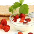Crispbread and wild berries. — Stock Photo