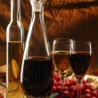 Red and white wine. - Lizenzfreies Foto