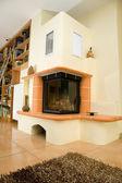 Obývací pokoj fireplase. — Stock fotografie