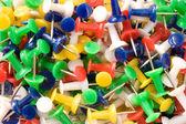 Multicolored push pins. — Stock Photo