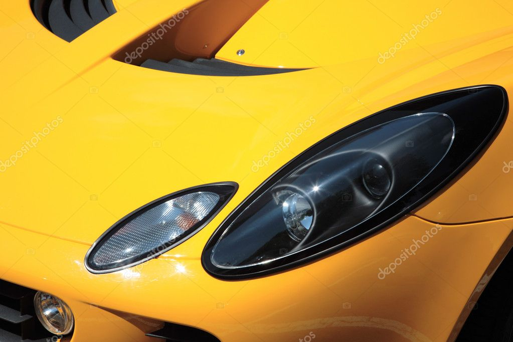 Side view on a car headlight. — Stock Photo #2495233