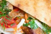 Doner kebab. — Stock Photo