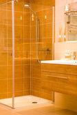 Modern bathroom shower — Stock Photo
