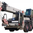 White mobile crane. - Stock Photo