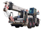 White mobile crane. — Stock Photo