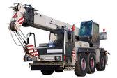 White mobile crane. — Stock Photo