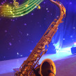 Saxophone with note signs. — Stock Photo #2632942