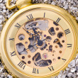 Stock Photo: Mechanical pocket watch.
