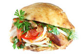 Doner kebab on white. — Stock Photo