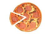 萨拉米香肠披萨. — 图库照片