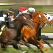 Stock Photo: Abstract Blur Horse Race
