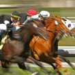 Abstract Blur Horse Race - Stok fotoğraf