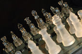 Glass chess — Stock Photo