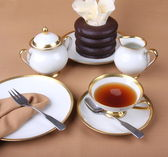 Is tea time — Stock Photo