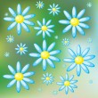 Royalty-Free Stock Vector Image: Background with daisies