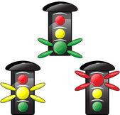 交通灯 — 图库矢量图片