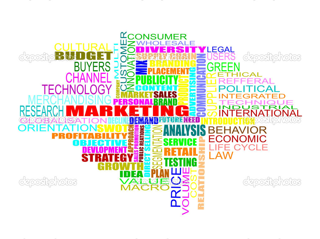 Word cloud concept illustration of marketing strategy — Stock Photo #2464165