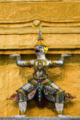 Guardian in grand palace — Stock Photo