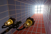 Atrium fenerlantaarn in atrium — Stok fotoğraf