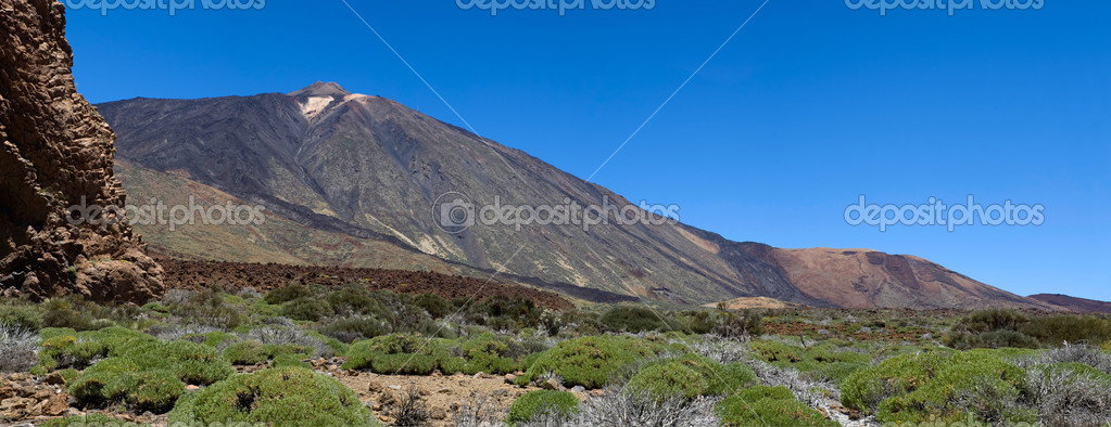 Panorama of montain pico del teide on the island tenerife  Stock Photo #2490064