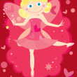 Valentine fairy — Stock Vector #2424703