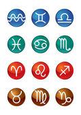 Twelve zodiac signs — Stock Vector