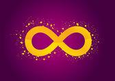 Infinity violet — Stock Vector