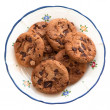 Homemade cookies on a plate — Stock Photo