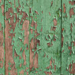 Painted green wood - Stock Photo